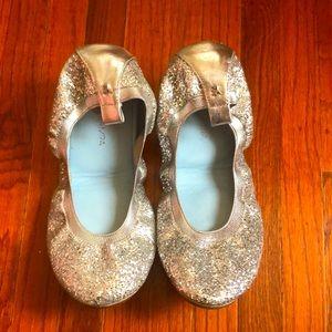 Yosi Samra Serena Glitter Ballet Flats Sz 7
